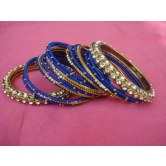 royal-blue-silk-thread-party-wear-metal-bangles