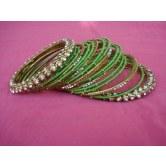 parrot-green-silk-thread-metal-party-wear-bangles