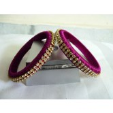 magenta-silk-thread-bangles-with-stones