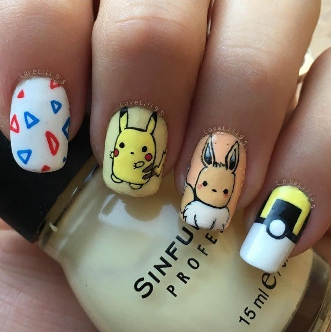 25 Super Cute Pokemon Nail Art Designs
