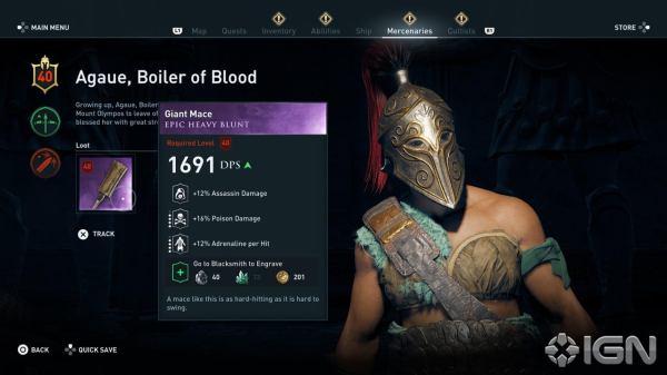 AC Odyssey's Mercenaries Provide Unending Challenges - IGN