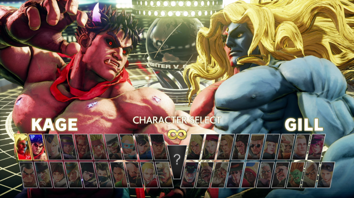"""The Character Select Screen of the 2020 """"Champion Edition"""" version of Street Fighter V, available as a retail package or as an update to previous versions of SF5."""