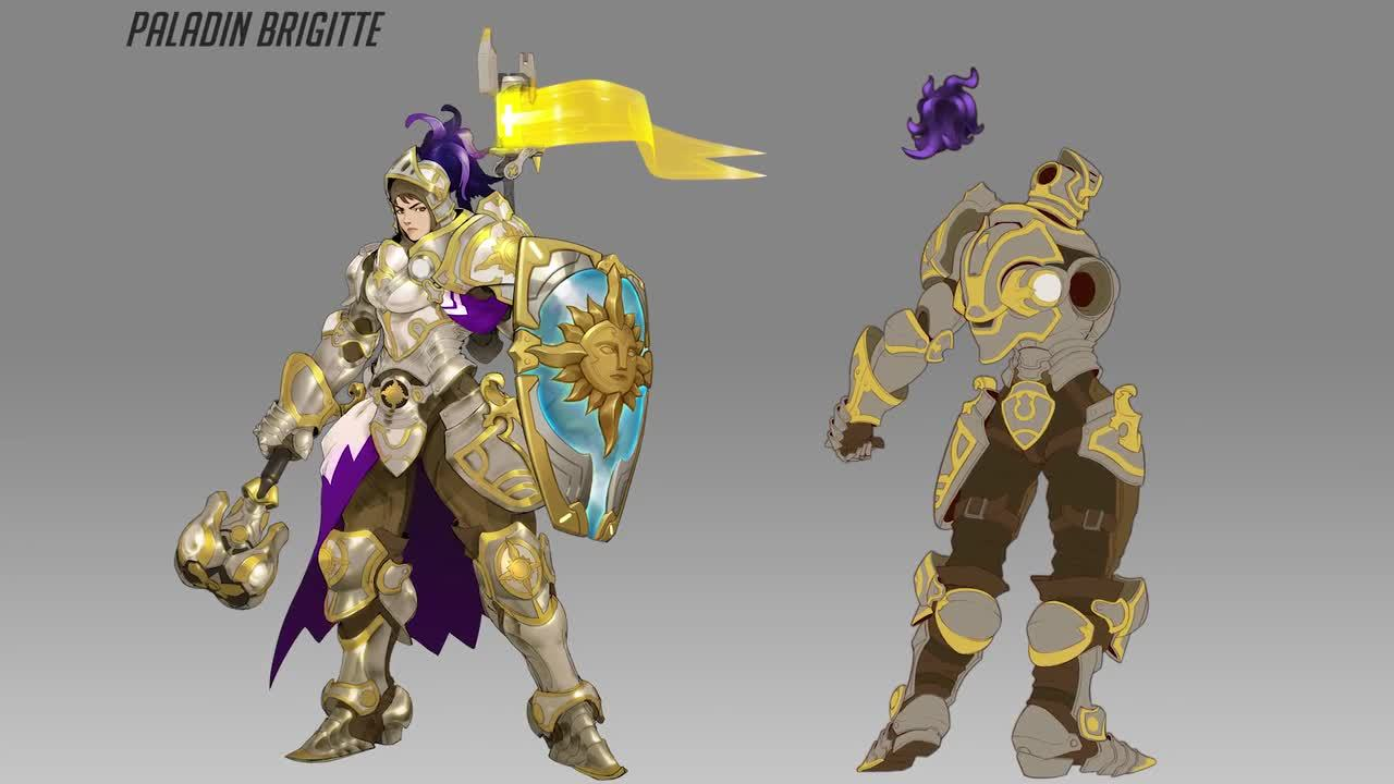 Overwatch Brigitte Concept Art Trailer IGN Video