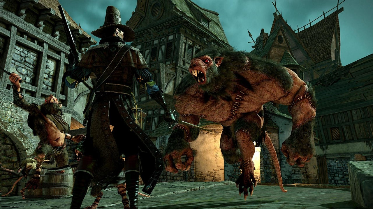 Fighting A Rat Ogre In Warhammer End Times Vermintide