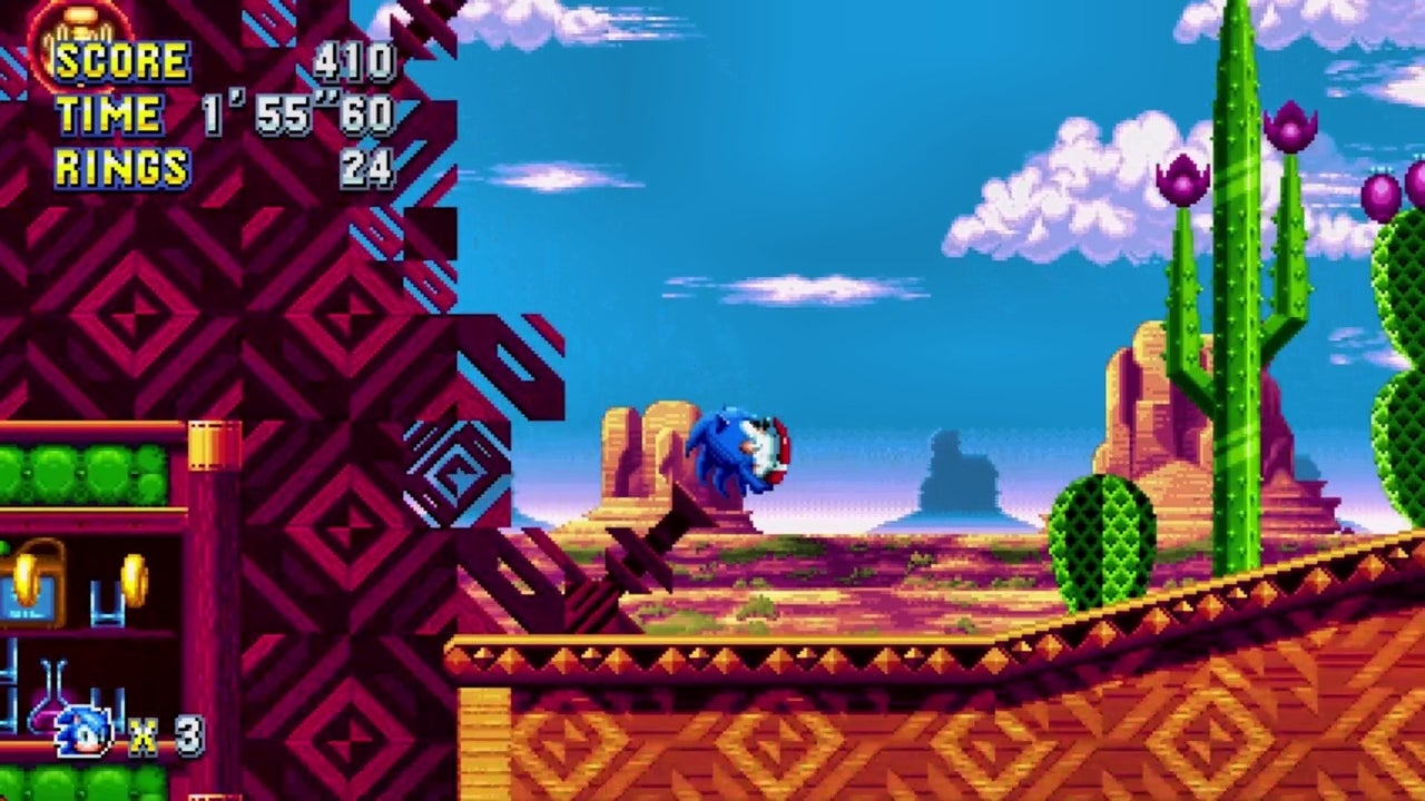 Sonic Mania Gameplay Mirage Saloon Act 2 IGN Video
