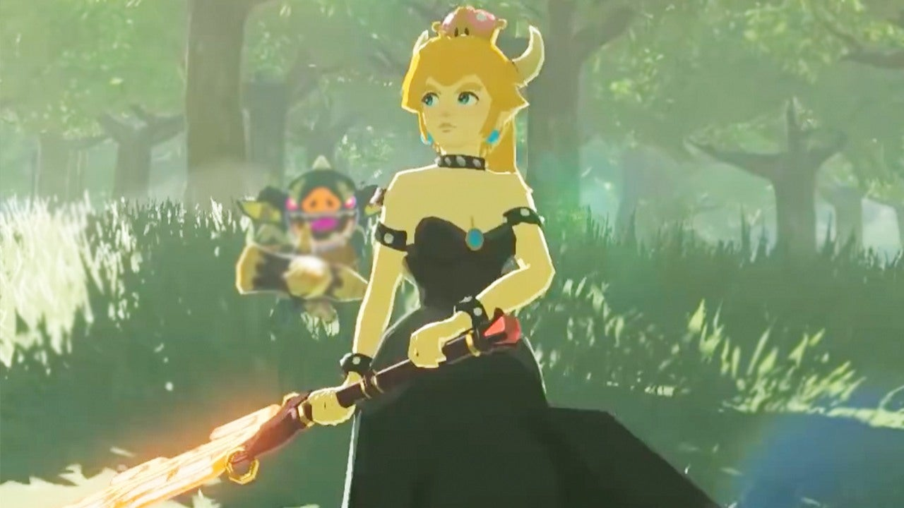 Bowsette Is Playable In Zelda Breath Of The Wild Thanks
