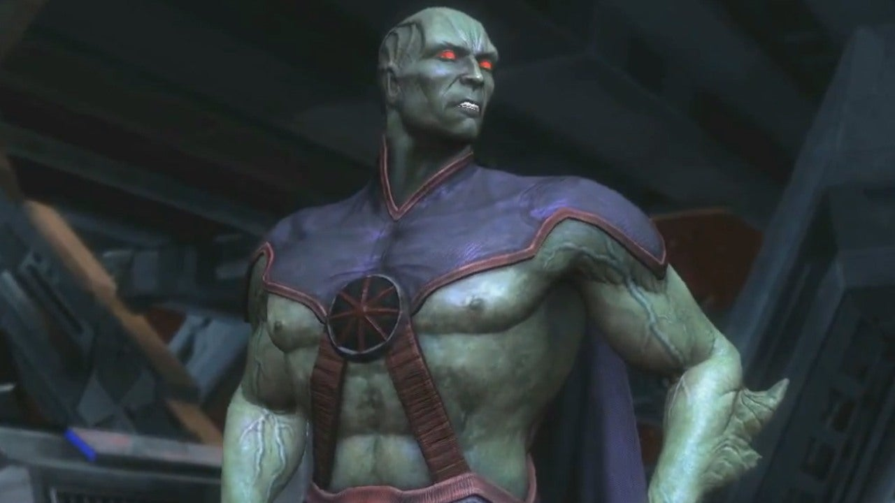 Martian Manhunter Reveal Injustice Gods Among Us Evo 2013 IGN Video