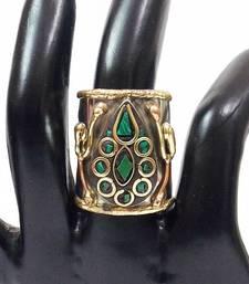 Buy Gorgeous tibetan two tone ring Ring online