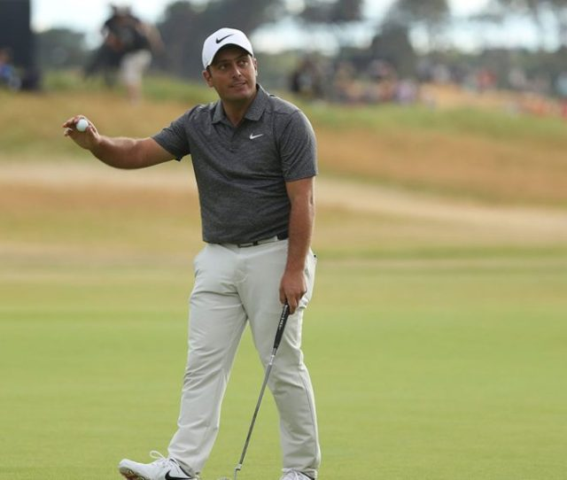 Francesco Molinari Of Italy Waves To The Crowd After Finishing His Round Peter Morrison Ap