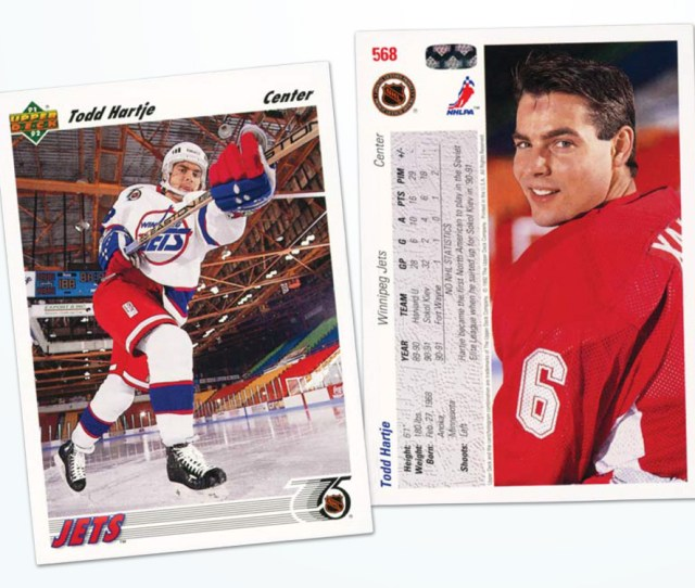 Tod Hartje Editors Note Check Out The Misspelling Remembers The Story Behind His Card That Picture Was Taken In Moncton Upper Deck Contracted The