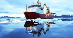 HMS Protector in Antarctic