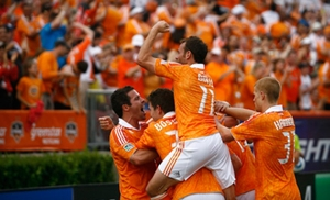 $20 for One Upper-Endline Seat and Commemorative T-Shirt to the Houston Dynamo Charities Cup on July 20 (Up to $52.58 Value)