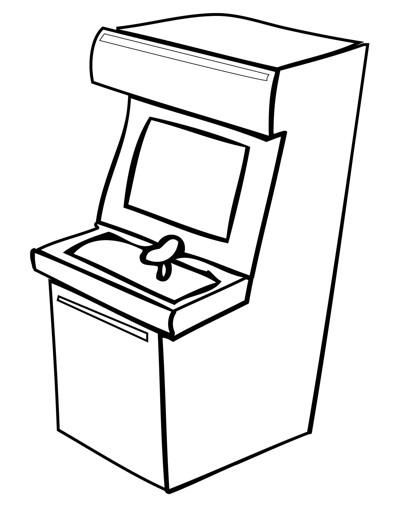 Arcade Coloring Pages