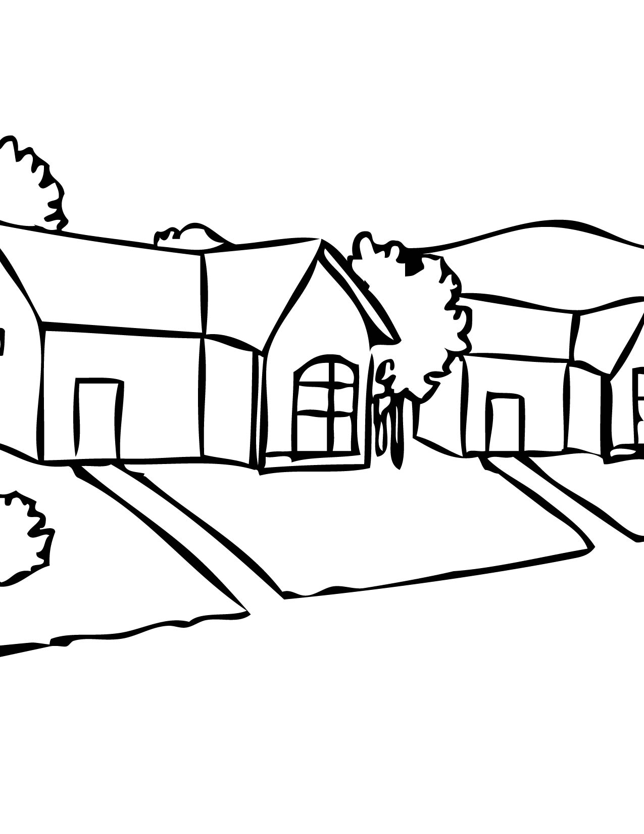 Neighborhood Coloring Pages Printable Pictures To Pin