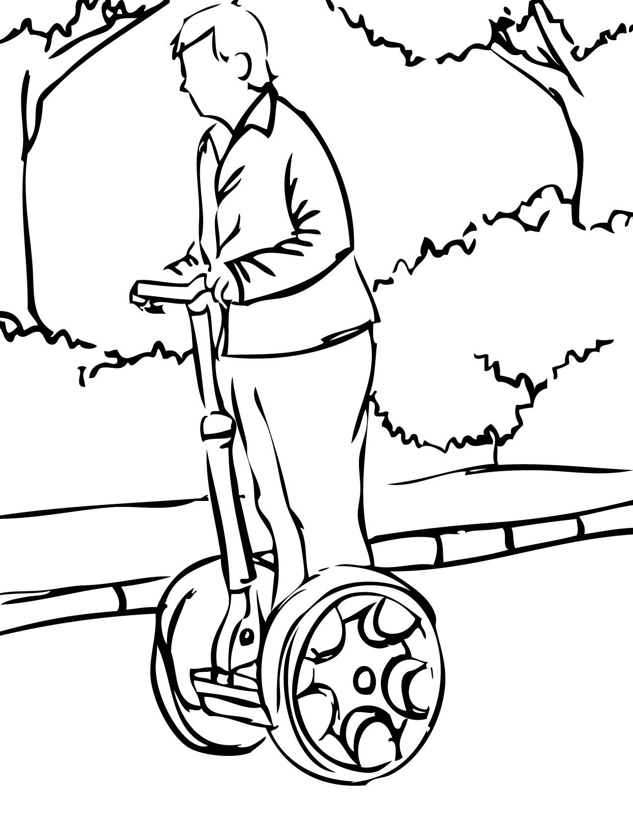 Hoverboard Coloring Sheets Coloring Pages