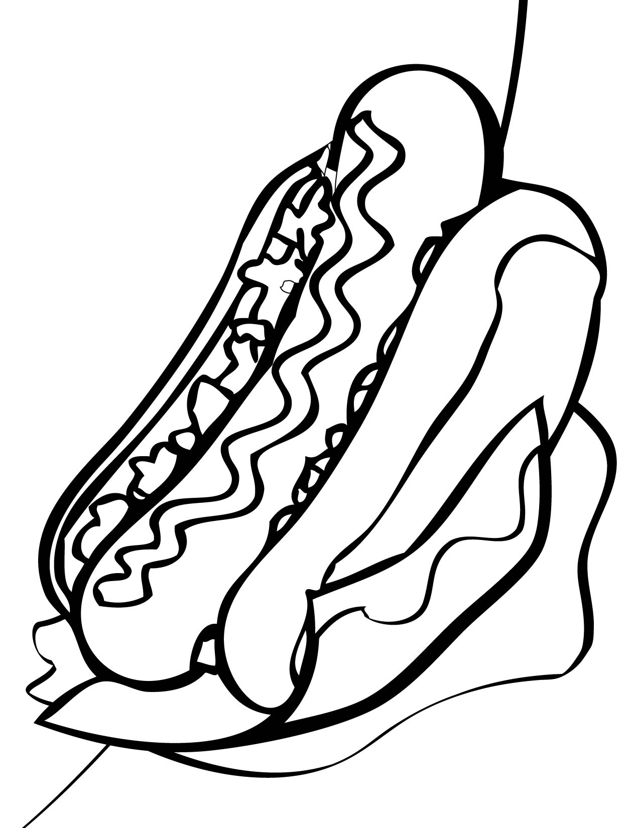 Free Coloring Pages Of Hot Dogs
