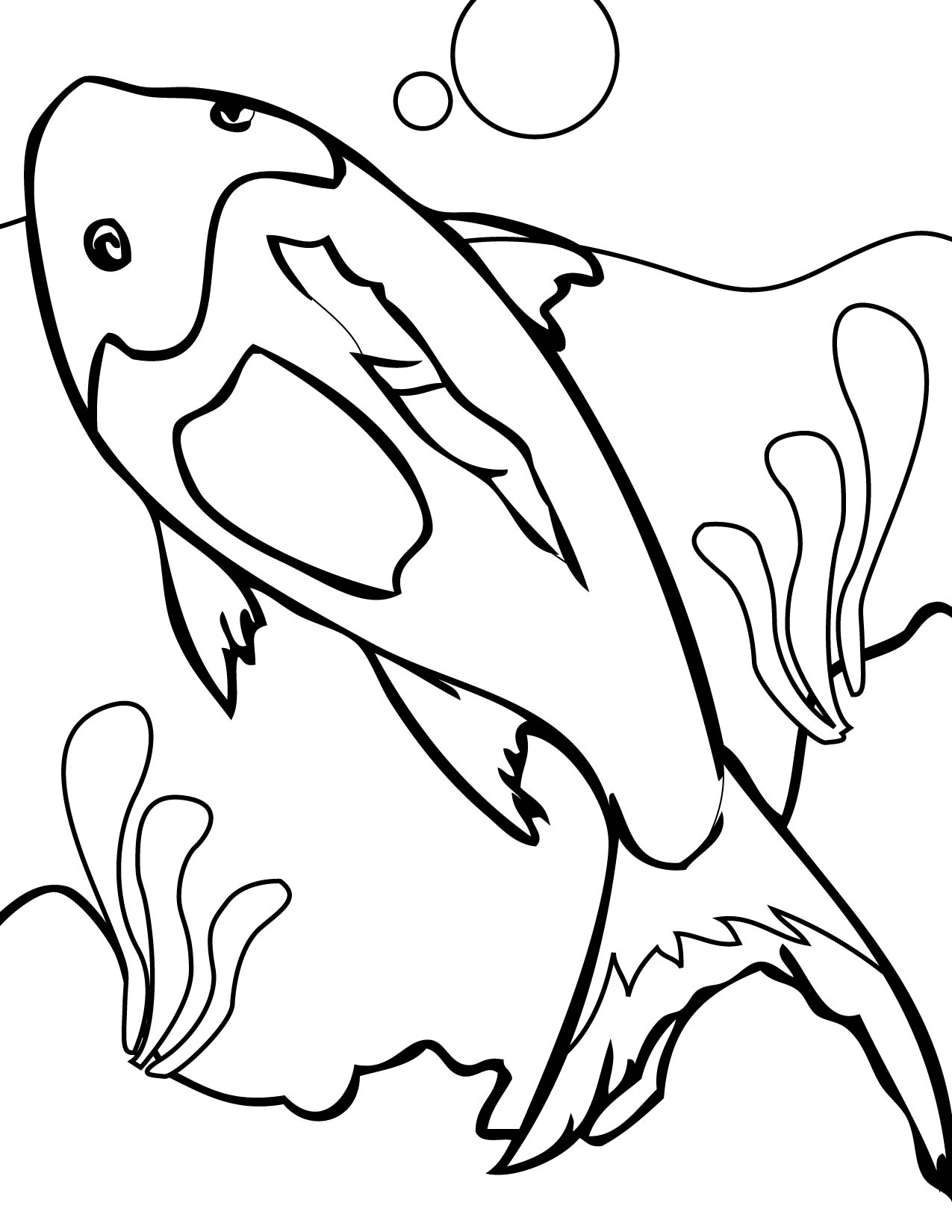 Coral Reef Coloring Book Page Sketch Coloring Page