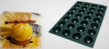 moule silicone demi sphere 28 empreintes