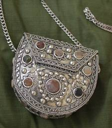 Buy Metal and Agate Coin Purse sling clutch online