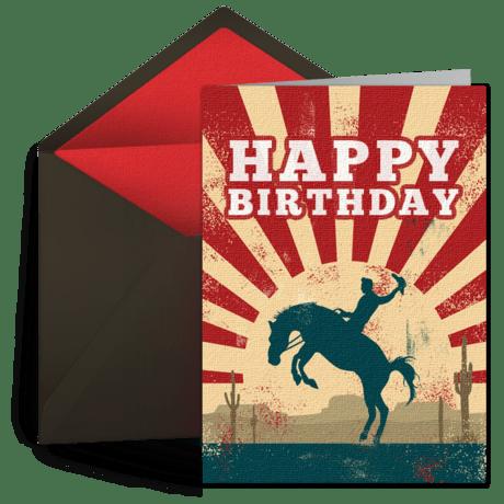 Cowboy Birthday Free Kids Happy Birthday ECard Greeting