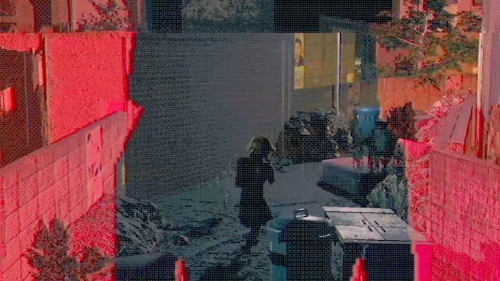 A small girl walks down a terrifying dark street in Walk.