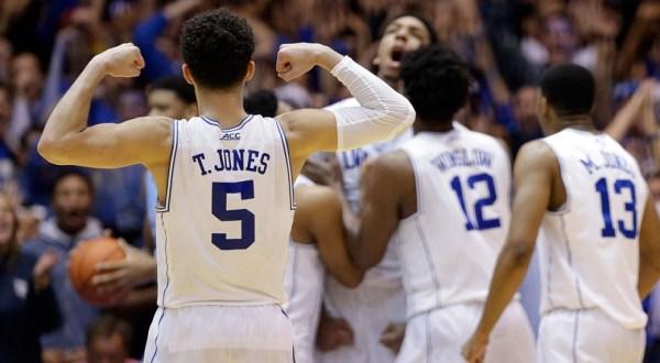 Jones, Duke top arch-rival UNC in wild OT affair ...