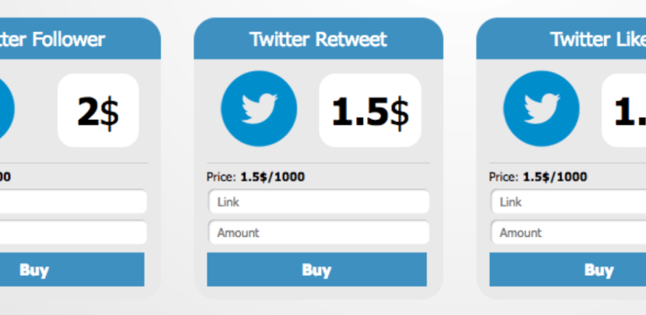 Image of Twitter followers, mentions and retweets for sale