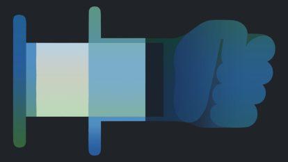 Ilustracja zastrzyku, który zamienia się w pięść