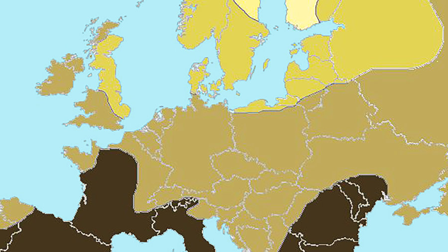 The Blonde Vs Brunette Map Of Europe Big Think