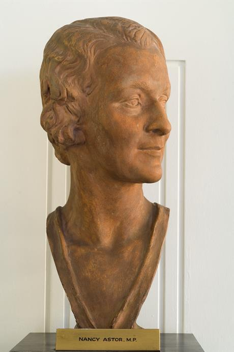Nancy Langhorne Viscountess Astor 1879-1964, terracotta bust by Zsigmond Kisfaludi Strobl. Copyright Palace of Westminster WOA S221