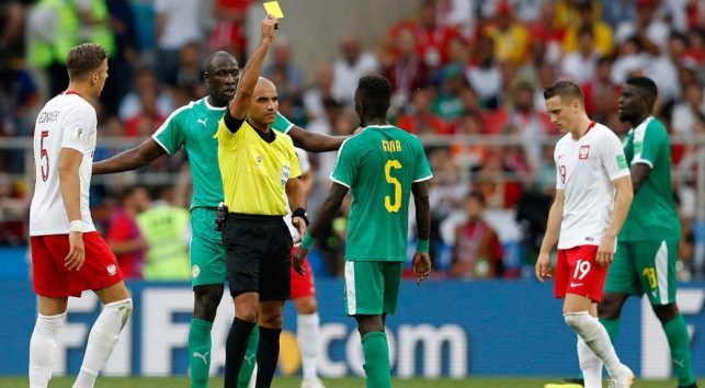 Image result for senegal 2018 world cup yellow card