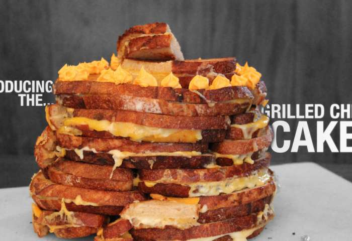 Three Tier Cake Out Of Grilled Cheeses Thrillist San Francisco