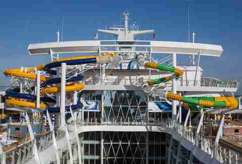 Waterslides on Harmony of the Seas
