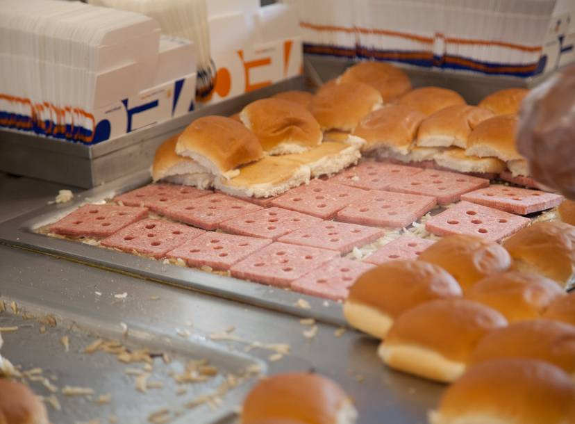 why do white castle burgers have holes