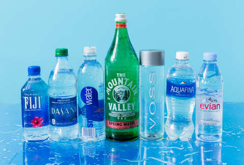 Glass and Plastic Bottled Water