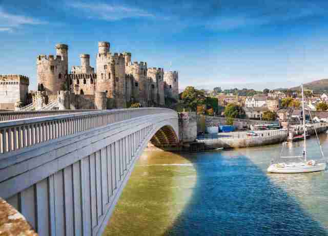 Famous Conwy Castle, Wales
