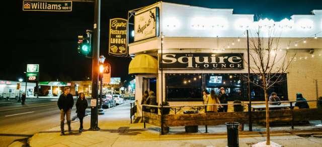 The Squire Lounge dive bar along Colfax Avenue in Denver, Colorado