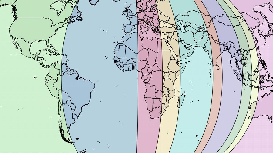 Earth Divided in Ten Zones of Equal Population Big Think
