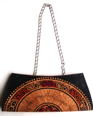 Shantiniketan Designer Ladies Leather Fashion Clutch / Sling / Handbag / Purse