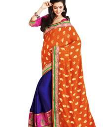 Buy Rangoli-Viscose georgette and velvet designer saree party-wear-saree online