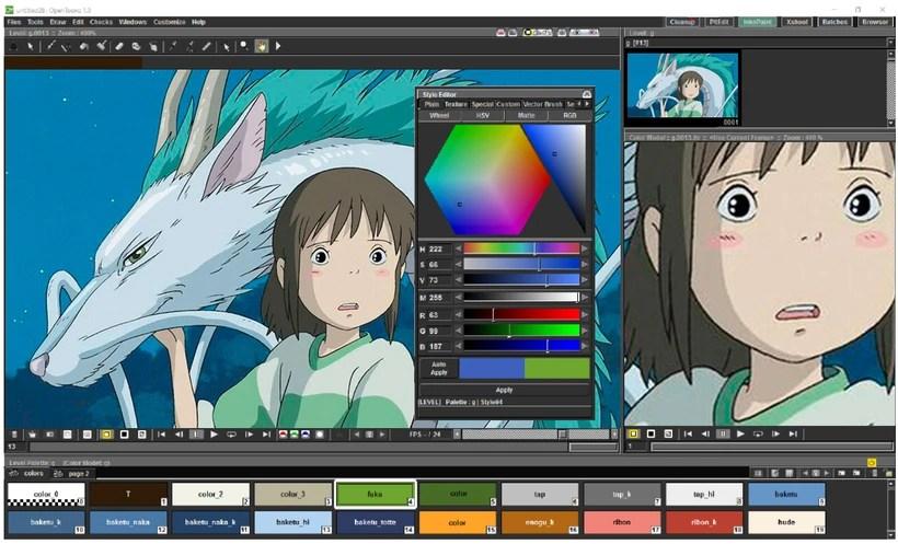 OpenToonz: software de animación 2D gratis y open source 0