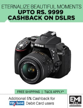 DSLR Cameras upto Rs 9999 cashback electronics sale