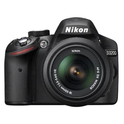 Nikon D3200 (with AF-S 18-55 mm VR Lens) 24.2 MP DSLR Camera (Black) + FREE Nikon DSLR Bag + 8GB Memory Card