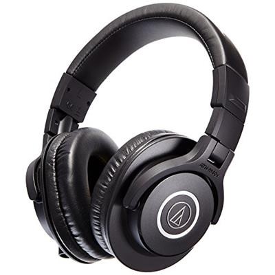 Audio Technica ATH-M40X Professional Studio Monitor Over-ear Headphones (Black)