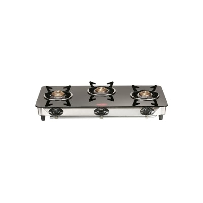 Pigeon Blaze 3 Steel Automatic Gas Stove (3 Burners)