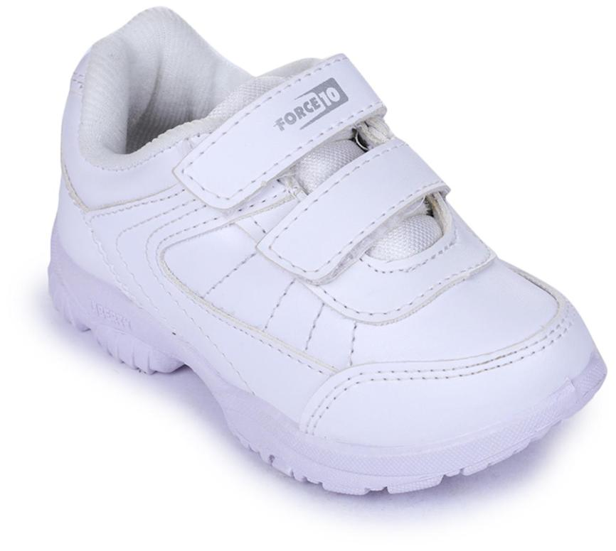 Liberty Force 10 White School Shoes for boys
