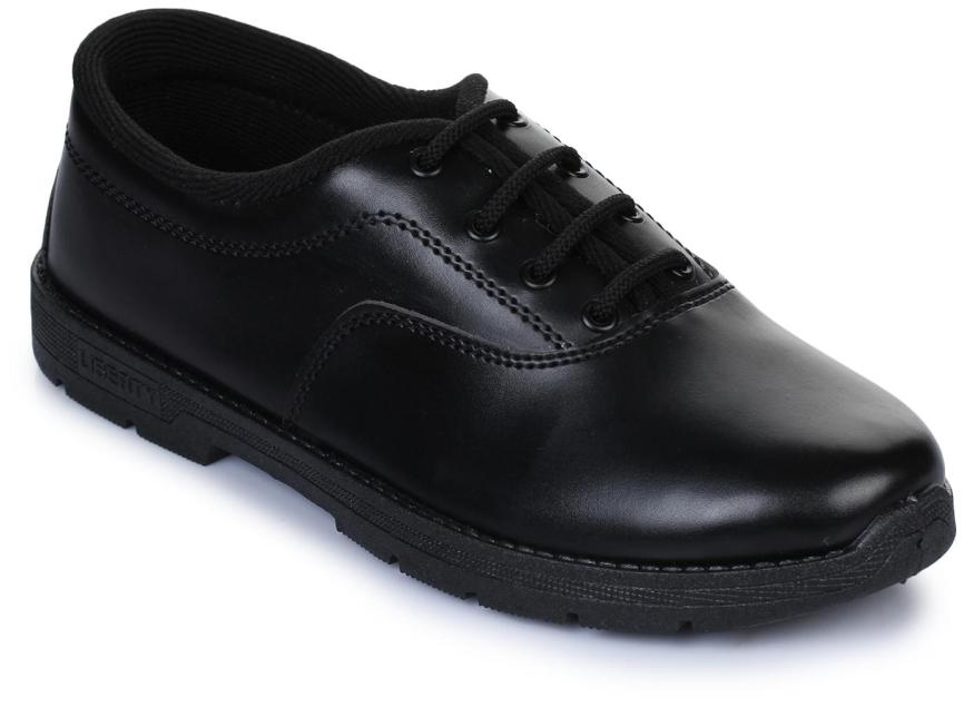 Liberty Prefect Black School Shoes for boys