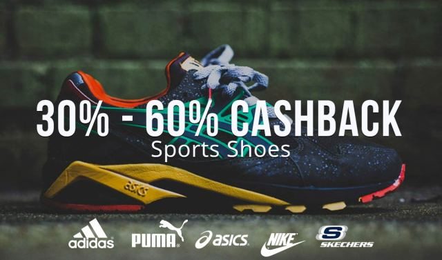 30%-60% cashback on Sports shoes using Paytm