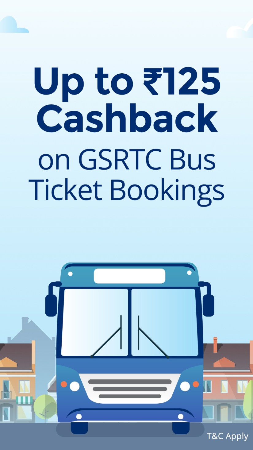 Up to Rs. 125 Cashback on bus ticket booking