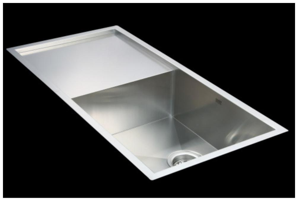 jns single bowl kitchen sink with drainboard 37 18 10 inch